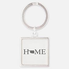 Oklahoma Home Square Keychain