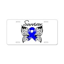 Survivor Colon Cancer Aluminum License Plate