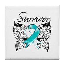 Survivor Cervical Cancer Tile Coaster