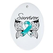 Survivor Cervical Cancer Ornament (Oval)