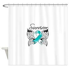 Survivor Cervical Cancer Shower Curtain