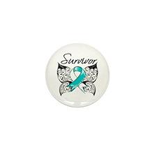 Survivor Cervical Cancer Mini Button (10 pack)