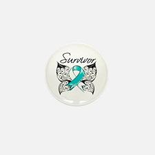 Survivor Cervical Cancer Mini Button (100 pack)