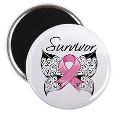 """Survivor Breast Cancer 2.25"""" Magnet (100 pack)"""