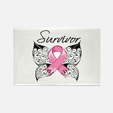 Survivor Breast Cancer Rectangle Magnet