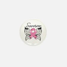 Survivor Breast Cancer Mini Button (10 pack)