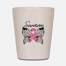 Survivor Breast Cancer Shot Glass
