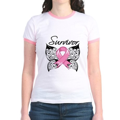 Survivor Breast Cancer Jr. Ringer T-Shirt