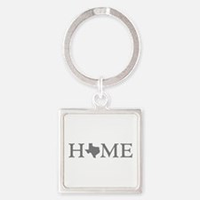 Texas Home Square Keychain
