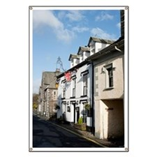 Street view of cottages in Hawkshead Banner