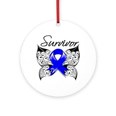 Survivor Anal Cancer Ornament (Round)