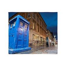Buchanan Street Police Box, Glasgow Throw Blanket