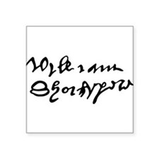 William Shakespare's Signature Sticker