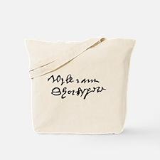 William Shakespare's Signature Tote Bag