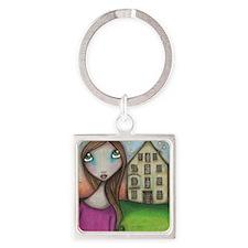 Hometown Girl Square Keychain