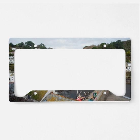 View of Polperro fishing vill License Plate Holder