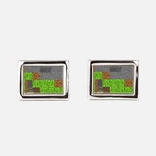 Pixel Art Play Mat Rectangular Cufflinks