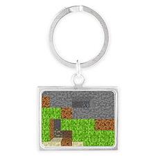Pixel Art Play Mat Landscape Keychain