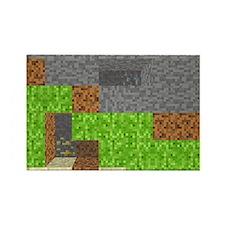 Pixel Art Play Mat Rectangle Magnet
