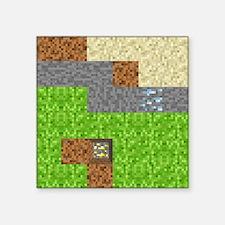 "Pixel Art Play Mat Square Sticker 3"" x 3"""