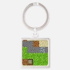 Pixel Art Play Mat Square Keychain