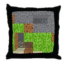 Pixel Art Play Mat Throw Pillow