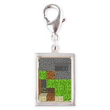 Pixel Art Play Mat Silver Portrait Charm