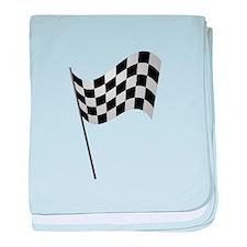 Racing Checkered Flag baby blanket