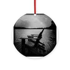 Wisconsin lake Ornament (Round)