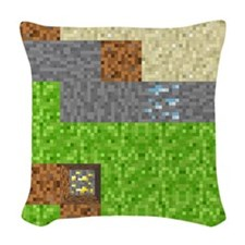 Pixel Art Play Mat Woven Throw Pillow