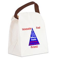 Venezuelan Food Pyramid Canvas Lunch Bag