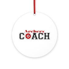 Archery Coach Ornament (Round)