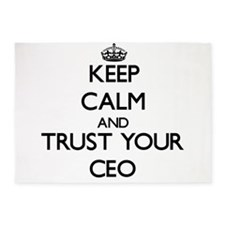Keep Calm and Trust Your Ceo 5'x7'Area Rug