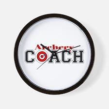 Archery Coach Wall Clock