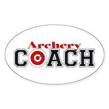 Archery Coach Oval Decal