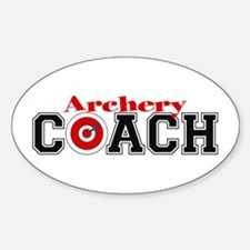 Archery Coach Oval Decal