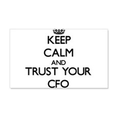 Keep Calm and Trust Your Cfo Wall Decal