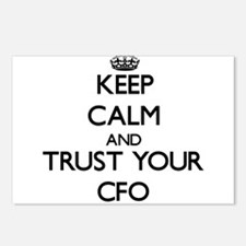 Keep Calm and Trust Your Cfo Postcards (Package of