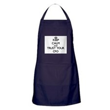 Keep Calm and Trust Your Cfo Apron (dark)