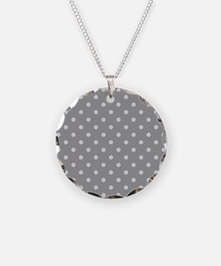 Grey Polka Dots Necklace