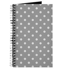 Grey Polka Dots Journal