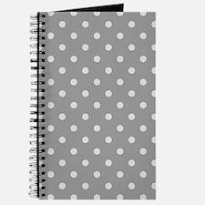 Grey Polka Dots Journal