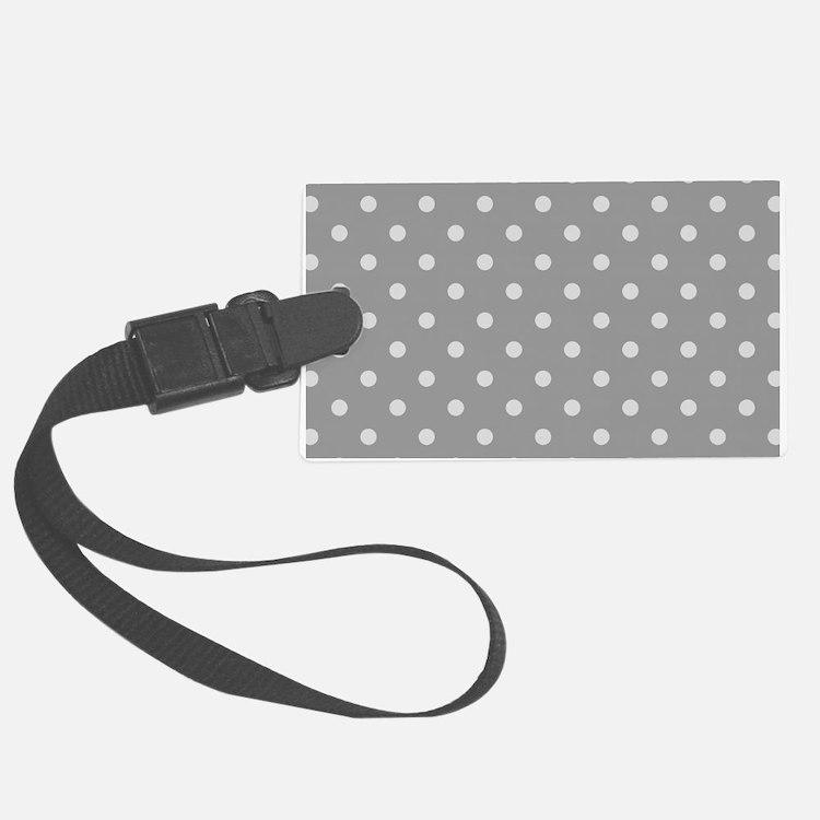 Grey Polka Dots Luggage Tag