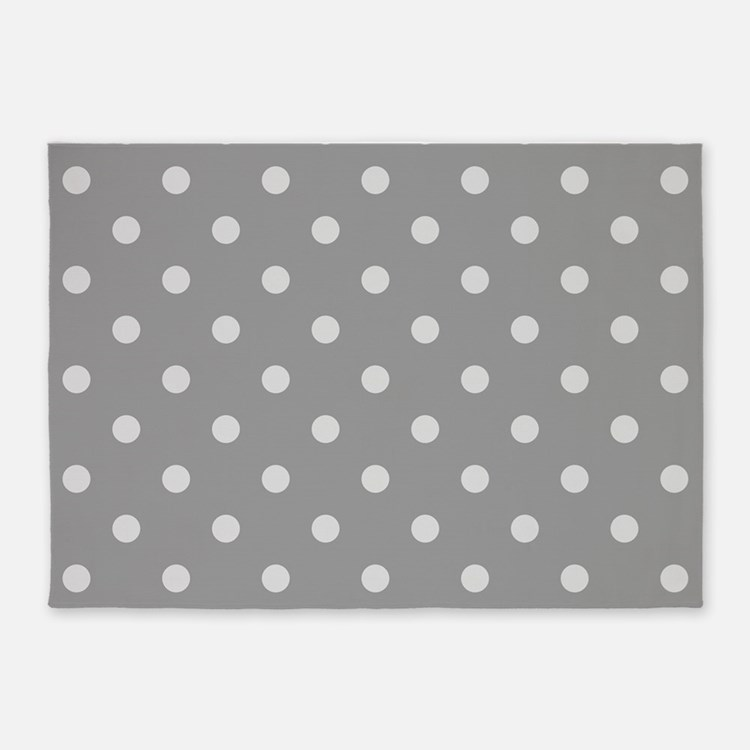 Polka Dot Rugs: Grey Polka Dot Rugs, Grey Polka Dot Area Rugs