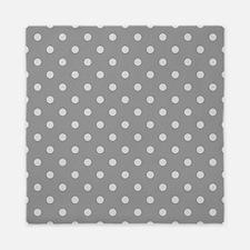 Grey Polka Dots Queen Duvet