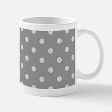 Grey Polka Dots Mugs