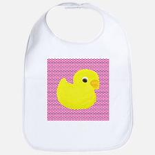 Rubber Duck on Hearts Bib