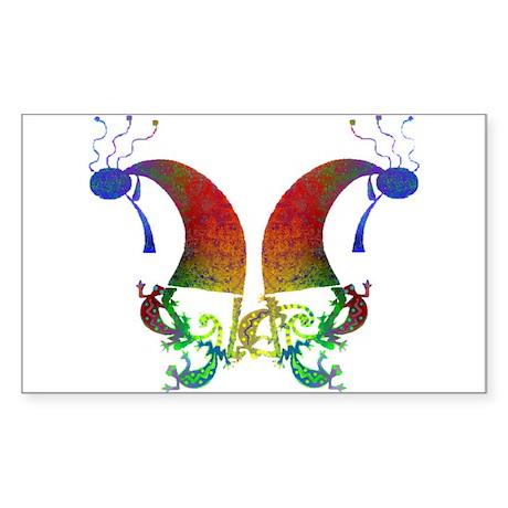 Kokopelli Dance Duo Rectangle Sticker