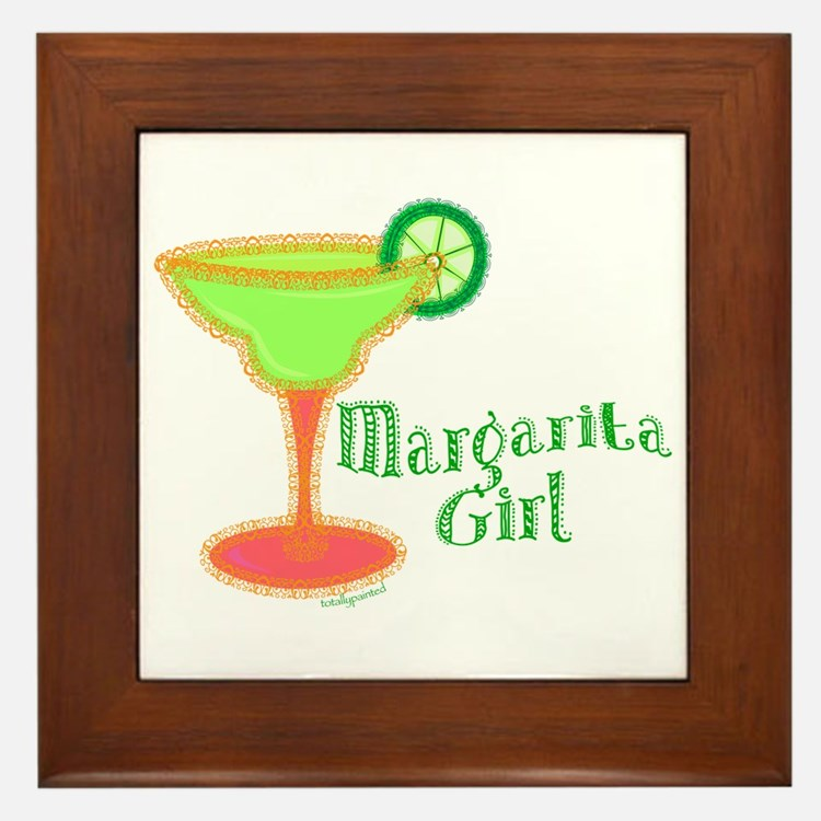 Margarita Girl Framed Tile