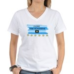 I LOVE THE SUNSHINE Women's V-Neck T-Shirt